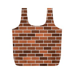 Brick Brown Line Texture Full Print Recycle Bags (m)  by Mariart