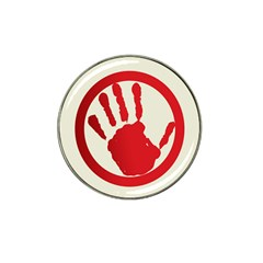 Bloody Handprint Stop Emob Sign Red Circle Hat Clip Ball Marker by Mariart