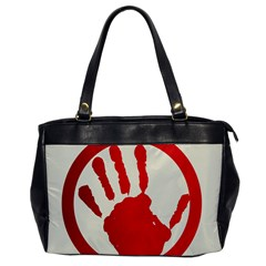 Bloody Handprint Stop Emob Sign Red Circle Office Handbags by Mariart