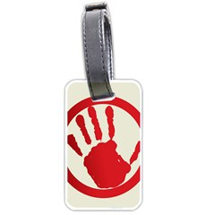 Bloody Handprint Stop Emob Sign Red Circle Luggage Tags (two Sides) by Mariart
