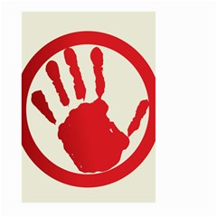 Bloody Handprint Stop Emob Sign Red Circle Large Garden Flag (two Sides) by Mariart