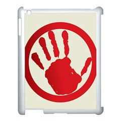 Bloody Handprint Stop Emob Sign Red Circle Apple Ipad 3/4 Case (white) by Mariart