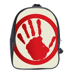 Bloody Handprint Stop Emob Sign Red Circle School Bags (xl)  by Mariart