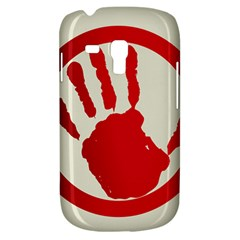 Bloody Handprint Stop Emob Sign Red Circle Galaxy S3 Mini by Mariart