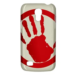 Bloody Handprint Stop Emob Sign Red Circle Galaxy S4 Mini by Mariart