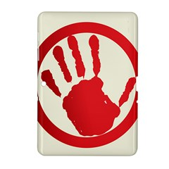 Bloody Handprint Stop Emob Sign Red Circle Samsung Galaxy Tab 2 (10 1 ) P5100 Hardshell Case  by Mariart