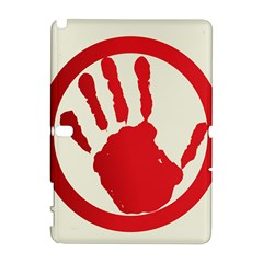 Bloody Handprint Stop Emob Sign Red Circle Galaxy Note 1 by Mariart