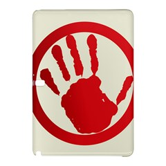 Bloody Handprint Stop Emob Sign Red Circle Samsung Galaxy Tab Pro 10 1 Hardshell Case by Mariart