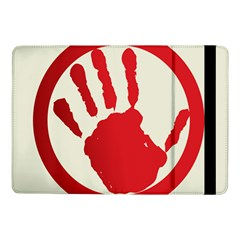 Bloody Handprint Stop Emob Sign Red Circle Samsung Galaxy Tab Pro 10 1  Flip Case by Mariart
