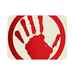 Bloody Handprint Stop Emob Sign Red Circle Double Sided Flano Blanket (mini)  by Mariart