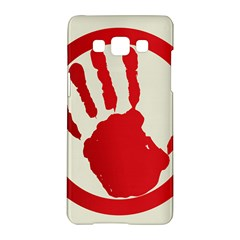 Bloody Handprint Stop Emob Sign Red Circle Samsung Galaxy A5 Hardshell Case  by Mariart