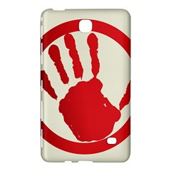 Bloody Handprint Stop Emob Sign Red Circle Samsung Galaxy Tab 4 (7 ) Hardshell Case  by Mariart