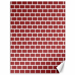 Brick Line Red White Canvas 36  X 48   by Mariart