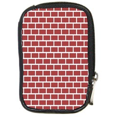 Brick Line Red White Compact Camera Cases by Mariart
