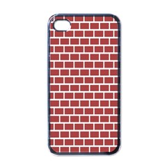 Brick Line Red White Apple Iphone 4 Case (black) by Mariart