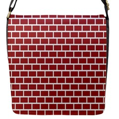 Brick Line Red White Flap Messenger Bag (s) by Mariart