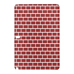 Brick Line Red White Samsung Galaxy Tab Pro 12 2 Hardshell Case by Mariart