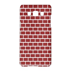 Brick Line Red White Samsung Galaxy A5 Hardshell Case  by Mariart