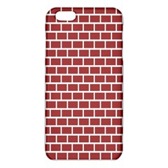 Brick Line Red White Iphone 6 Plus/6s Plus Tpu Case by Mariart