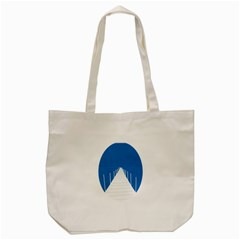 Bridge Sea Beack Blue White Tote Bag (cream) by Mariart