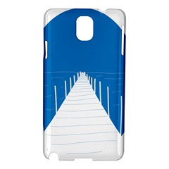 Bridge Sea Beack Blue White Samsung Galaxy Note 3 N9005 Hardshell Case by Mariart