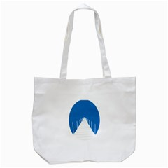 Bridge Sea Beack Blue White Tote Bag (white) by Mariart