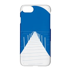Bridge Sea Beack Blue White Apple Iphone 7 Hardshell Case by Mariart