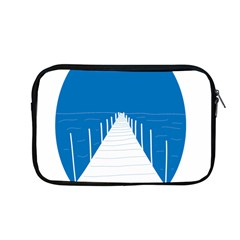 Bridge Sea Beack Blue White Apple Macbook Pro 13  Zipper Case by Mariart