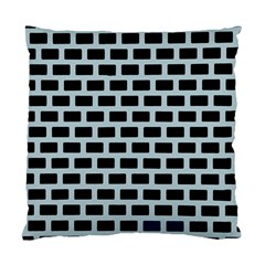 Bricks Black Blue Line Standard Cushion Case (two Sides) by Mariart