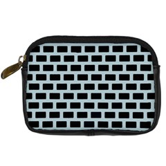 Bricks Black Blue Line Digital Camera Cases by Mariart