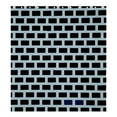 Bricks Black Blue Line Shower Curtain 66  X 72  (large)  by Mariart