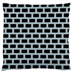Bricks Black Blue Line Large Cushion Case (two Sides) by Mariart