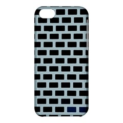 Bricks Black Blue Line Apple Iphone 5c Hardshell Case by Mariart