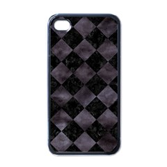 Square2 Black Marble & Black Watercolor Apple Iphone 4 Case (black) by trendistuff