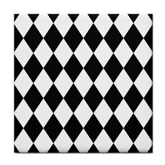 Broken Chevron Wave Black White Tile Coasters by Mariart