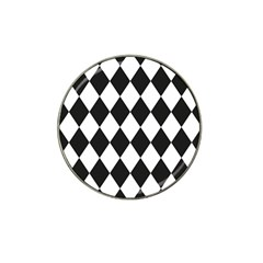 Broken Chevron Wave Black White Hat Clip Ball Marker (4 Pack) by Mariart