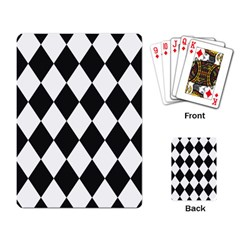 Broken Chevron Wave Black White Playing Card by Mariart