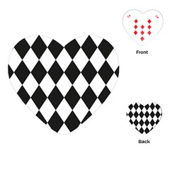 Broken Chevron Wave Black White Playing Cards (heart)  by Mariart