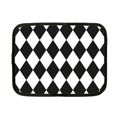 Broken Chevron Wave Black White Netbook Case (small)  by Mariart