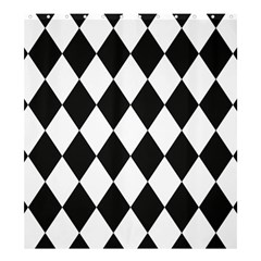 Broken Chevron Wave Black White Shower Curtain 66  X 72  (large)  by Mariart