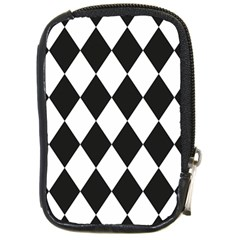 Broken Chevron Wave Black White Compact Camera Cases by Mariart