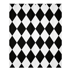 Broken Chevron Wave Black White Shower Curtain 60  X 72  (medium)  by Mariart
