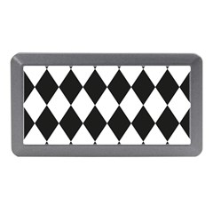 Broken Chevron Wave Black White Memory Card Reader (mini) by Mariart
