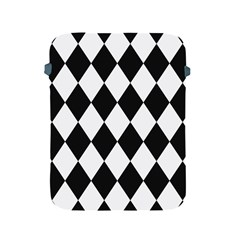 Broken Chevron Wave Black White Apple Ipad 2/3/4 Protective Soft Cases by Mariart