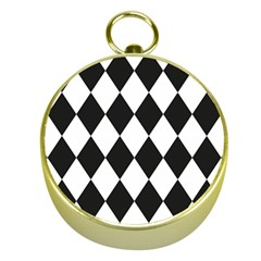 Broken Chevron Wave Black White Gold Compasses by Mariart