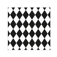 Broken Chevron Wave Black White Small Satin Scarf (square) by Mariart