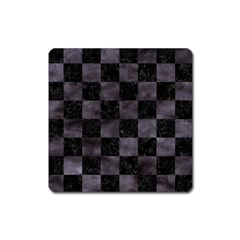 Square1 Black Marble & Black Watercolor Magnet (square) by trendistuff
