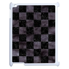 Square1 Black Marble & Black Watercolor Apple Ipad 2 Case (white) by trendistuff