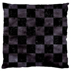 Square1 Black Marble & Black Watercolor Large Cushion Case (one Side) by trendistuff