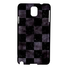 Square1 Black Marble & Black Watercolor Samsung Galaxy Note 3 N9005 Hardshell Case by trendistuff